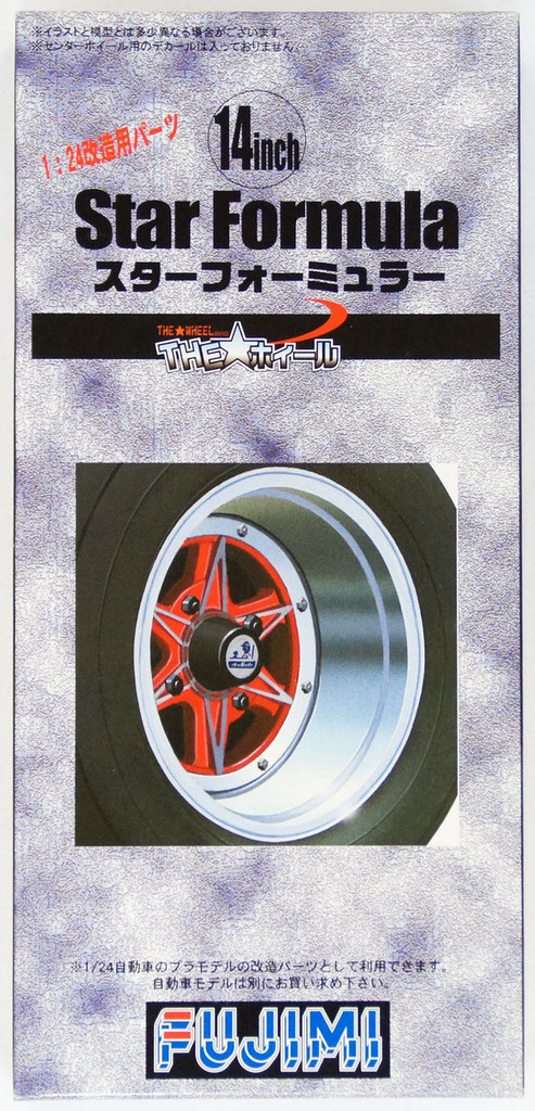 Fujimi TW40 Star Formula Wheel & Tire Set 14 inch 1/24 Scale Kit