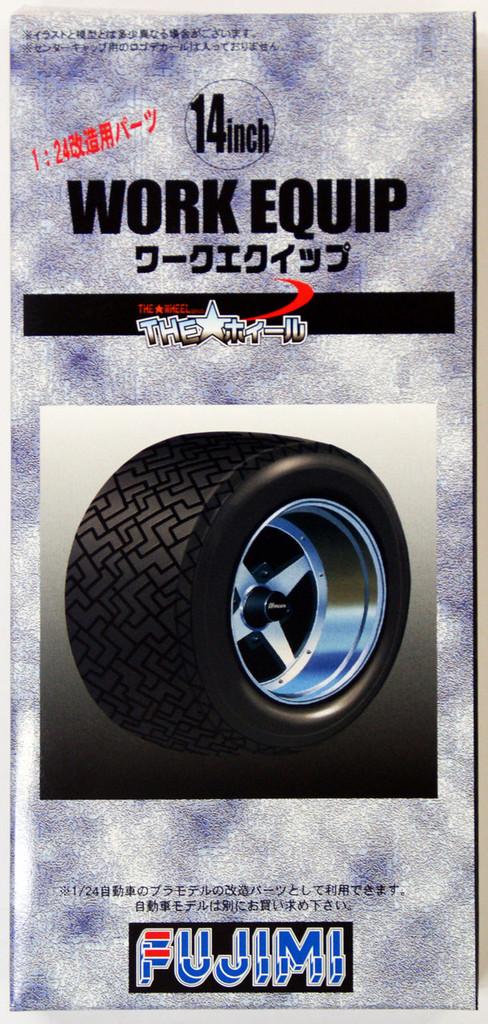 Fujimi TW44 Work Equip Wheel & Tire Set 14 inch 1/24 Scale Kit