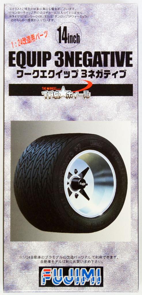 Fujimi TW47 Equip 3negative Wheel & Tire Set 14 inch 1/24 Scale Kit
