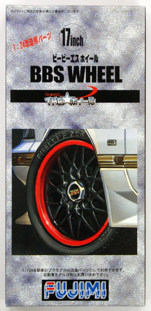 Fujimi TW59 BBS Wheel & Tire Set 17 inch 1/24 Scale Kit