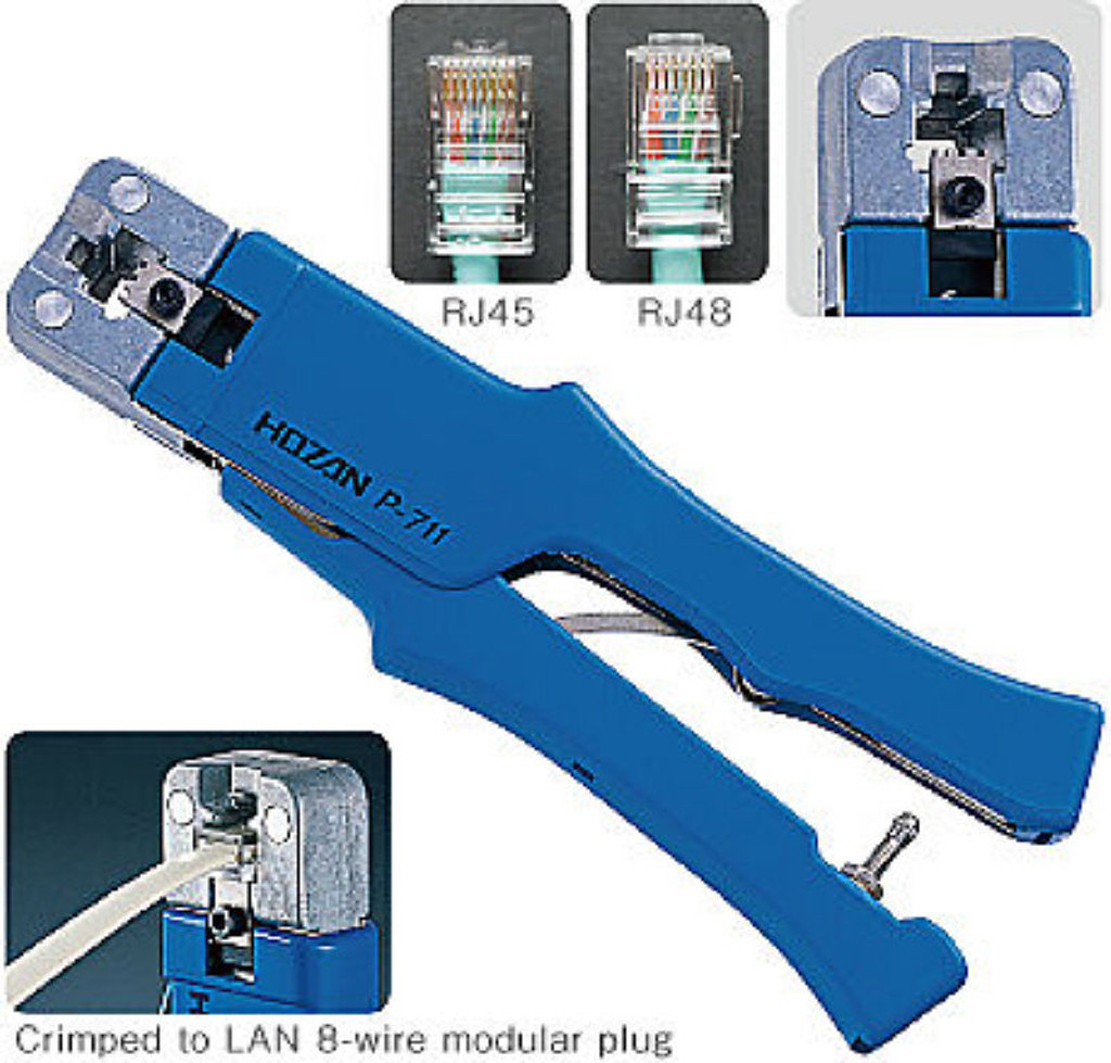 Hozan P-711 MODULAR PLUG CRIMPER (for LAN 8-wire) - Plaza Japan