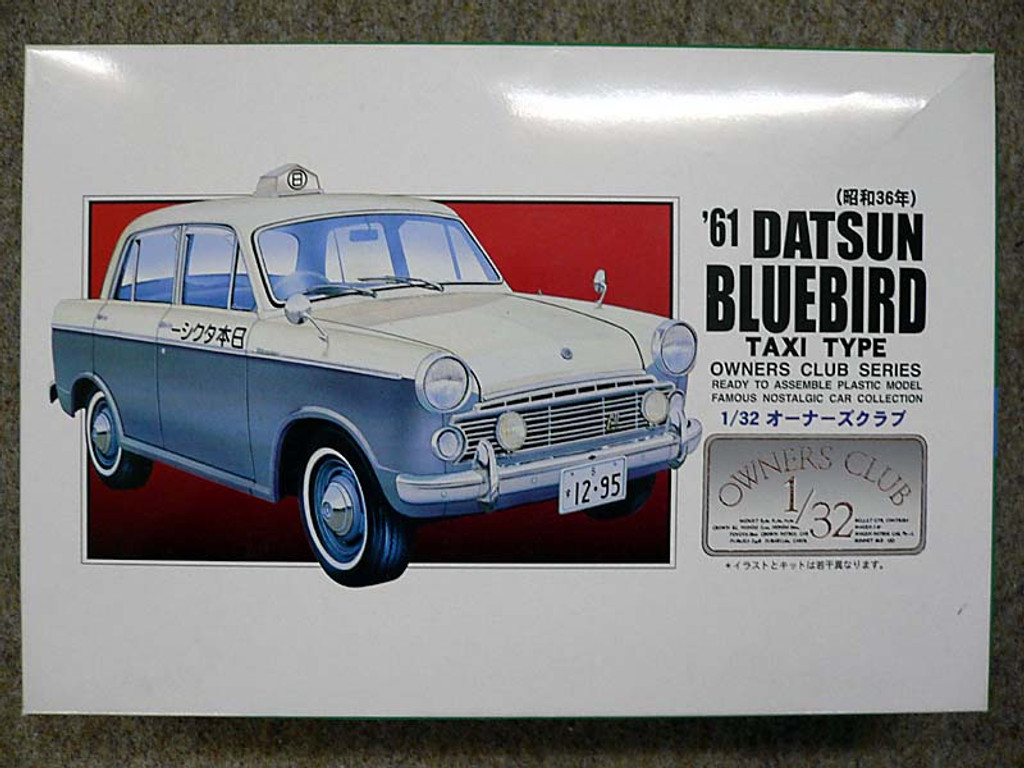 Arii Owners Club 1/32 62 1961 Datsun Bluebird 1/32 Scale Kit (Microace)