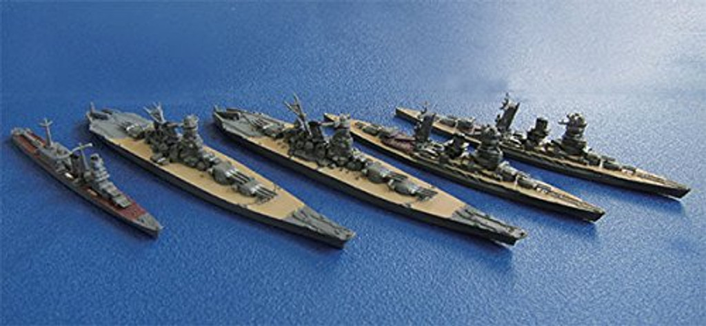 Fujimi Gunkan 03 401379 Combined Fleet Ngato/ Mutsu/ Yamato/ Musashi/ Oyodo Set 1/3000