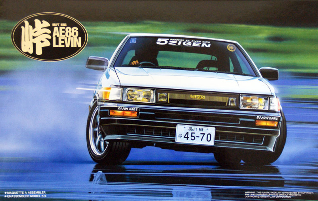Fujimi TOHGE-01 Toyota AE86 Levin Drift King 1/24 Scale Kit