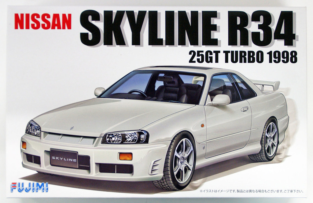 Fujimi ID-124 Nissan R34 Skyline 25GT Turbo 1998 1/24 scale kit