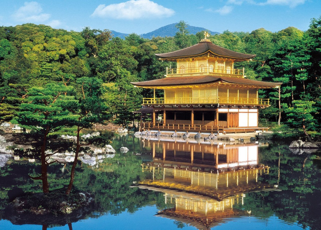 Epoch Jigsaw Puzzle 54-001 Temple of the Golden Pavilion Kinkakuj Kyoto Japan (2000 S-Pieces)