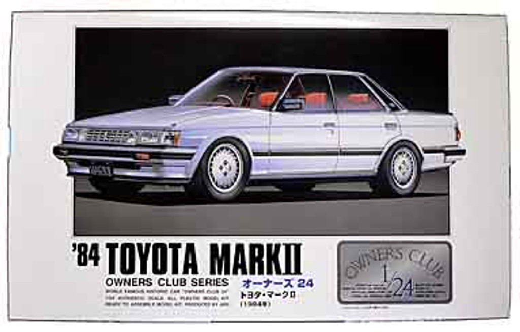 Arii Owners Club 1/24 02 1984 Toyota Mark II (2) 1/24 Scale Kit (Microace)