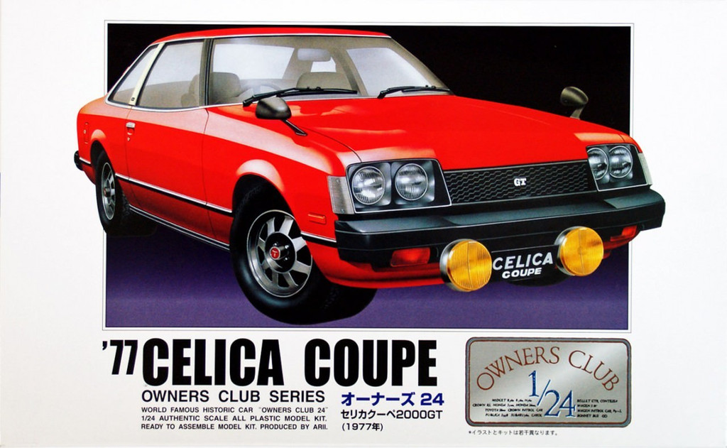 Arii Owners Club 1/24 06 1977 Celica Coupe 1/24 Scale Kit (Microace)