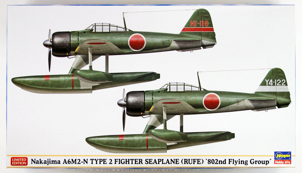 "Hasegawa 02220 Nakajima A6M2-N Type 2 Fighter Seaplane (Rufe) ""802nd Flying Group"" 1/72 scale kit"