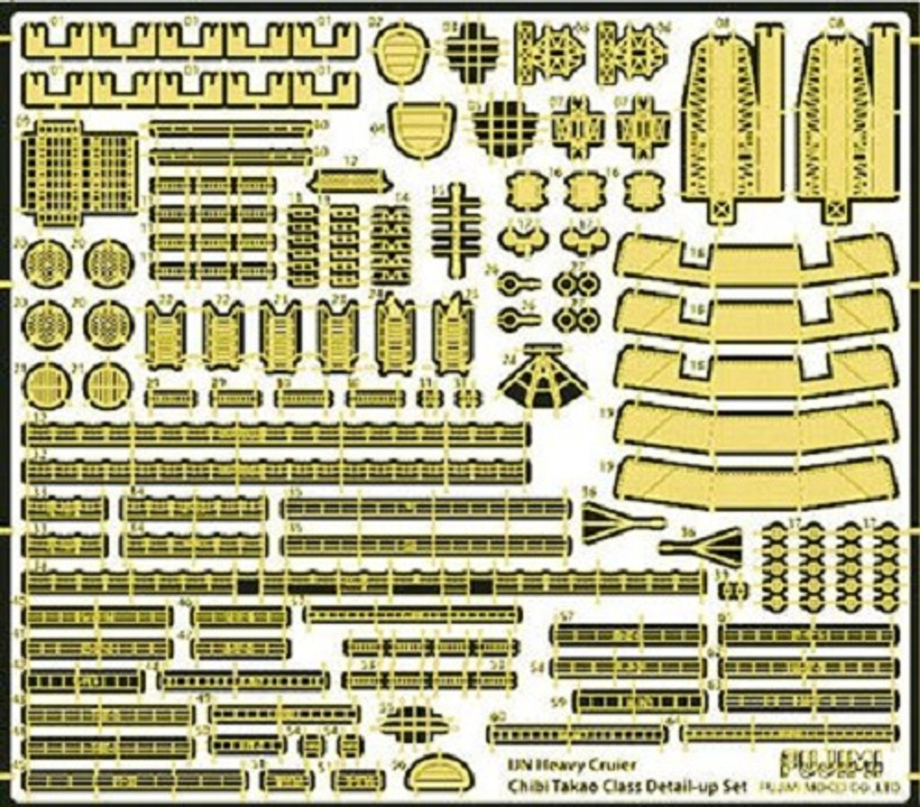 Fujimi TK 115016 Photo Etched Parts for Chibi-maru Kantai Fleet Takao Type