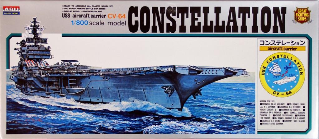 Arii-07 618073 USS Aircraft Carrier Constellation CVA-64 1/800 Scale (Microace)
