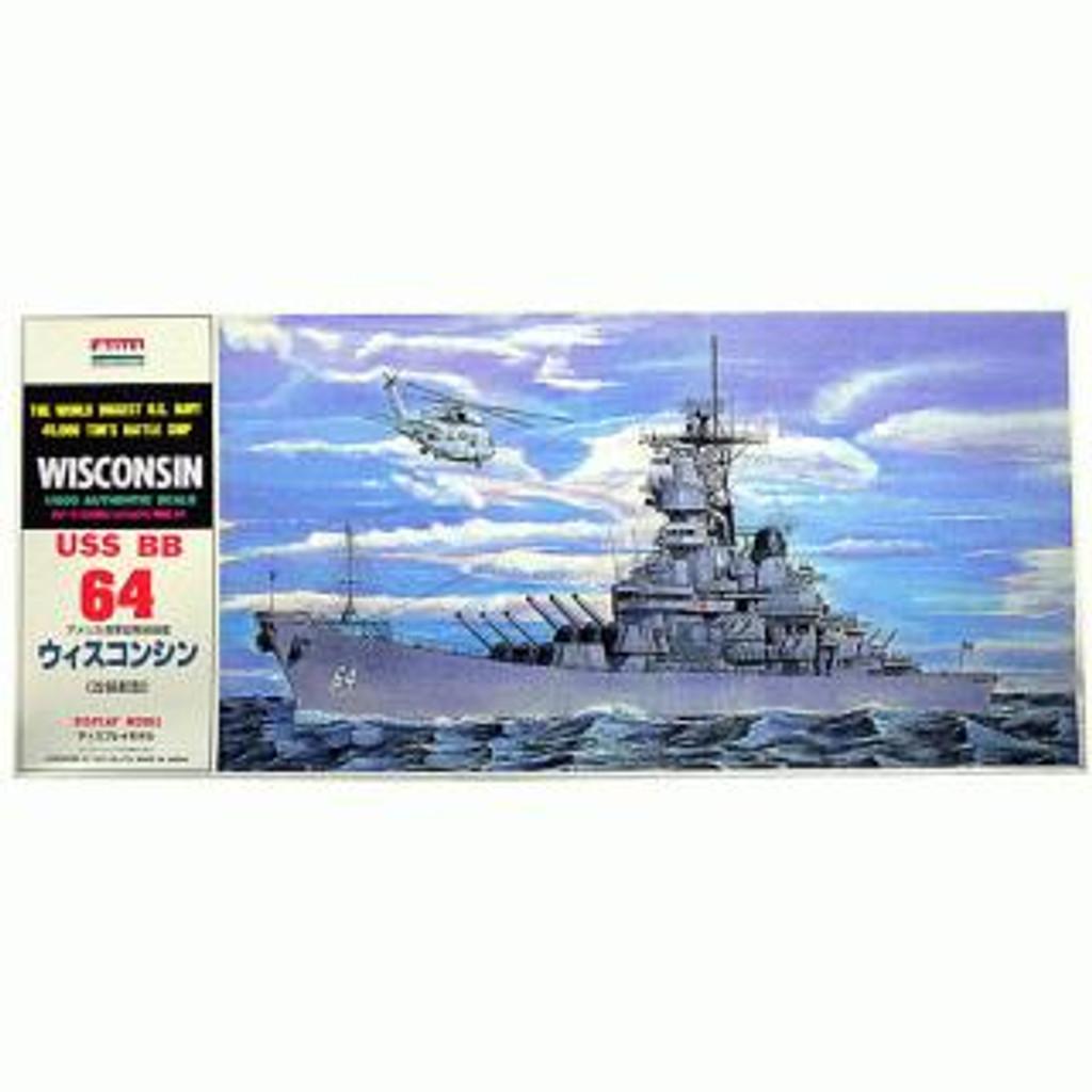 Arii-14 618141 USS BattleShip Wisconsin BB-64 1/600 Scale Kit (Microace)