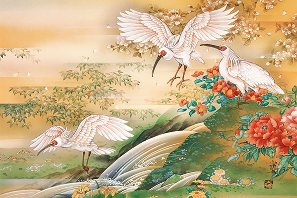 APPLEONE Jigsaw Puzzle 1000-804 Japanese Art Crested Ibis (1000 Pieces)