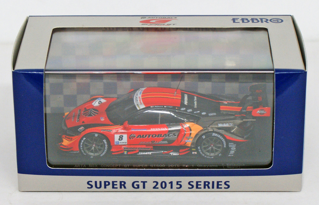 Ebbro 45272 ARTA NSX CONCEPT-GT SUPER GT500 2015 Rd.1 Okayama No.8 1/43 scale