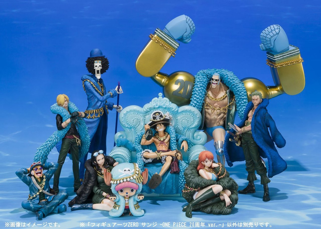 Bandai 177500 Figuarts ZERO Sanji One Piece 20th Anniversary Figure