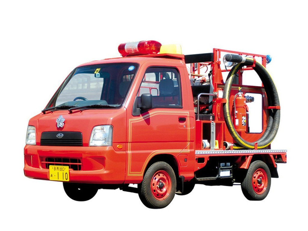 Aoshima 51429 The Model Car 50 Subaru Sambar Fire Engine 1/24 scale kit