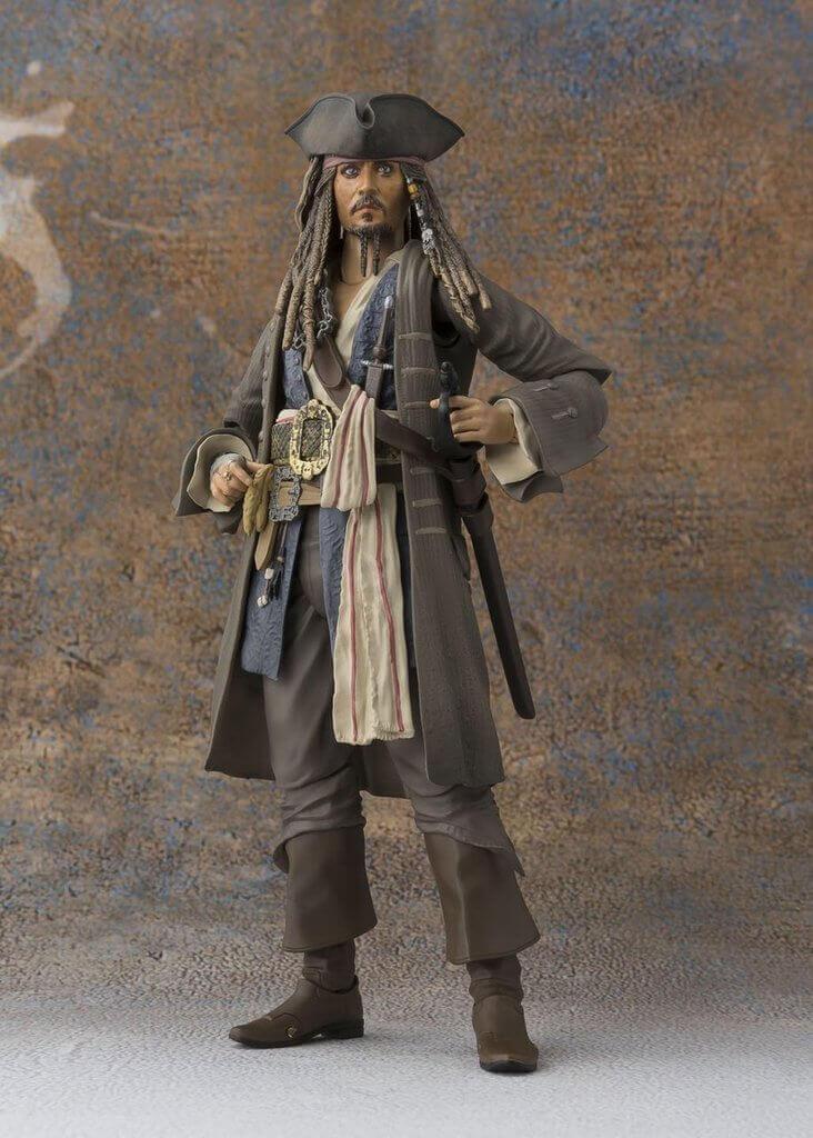 Bandai 147756 S.H. Figuarts Pirates of the Caribbean Captain Jack Sparrow Figure