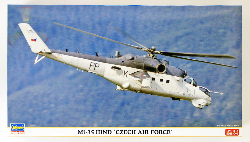 "Hasegawa 02247 Mi-35 HIND ""CZECH AIR FORCE"" 1/72 scale kit"