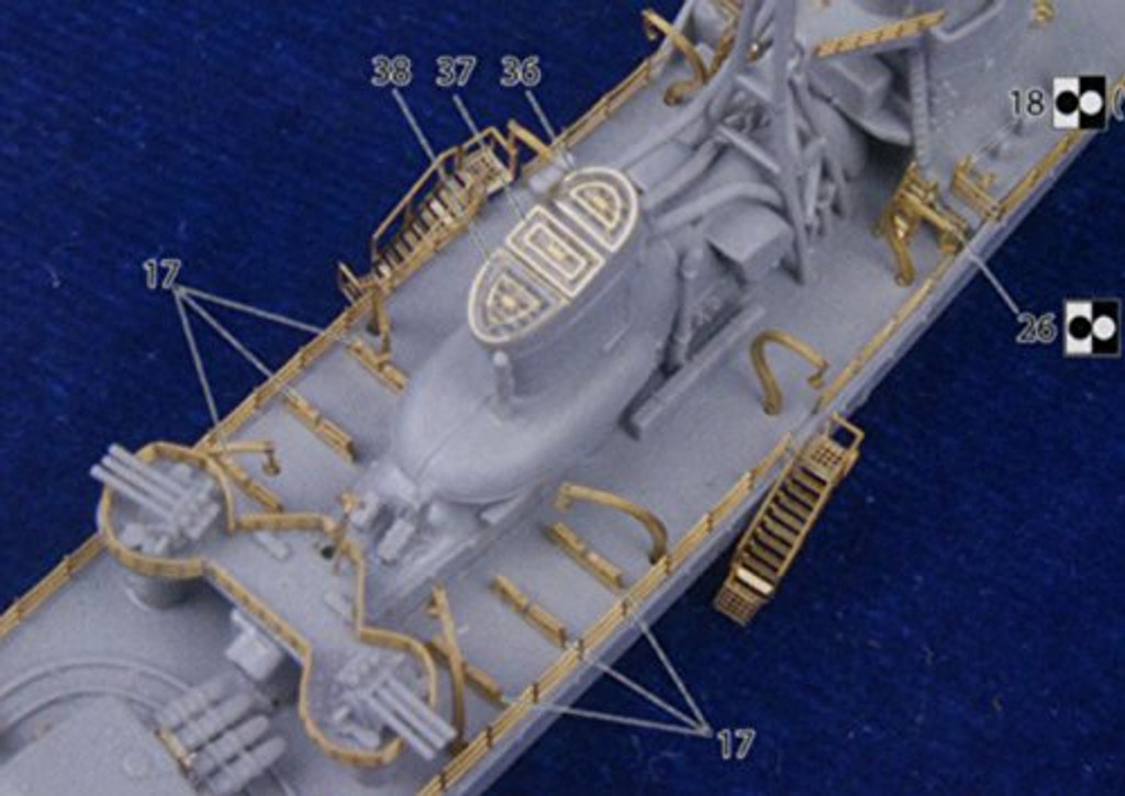 Fujimi FHSP-22 IJN Japanese Destroyer Akizuki Full Hull DX 1/700 scale kit