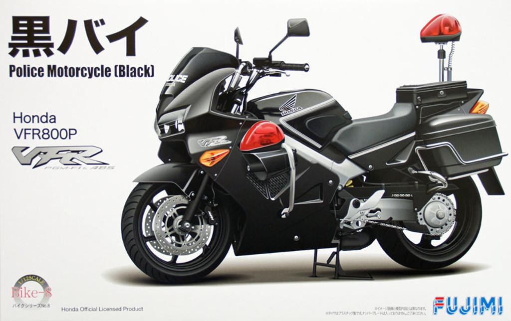Fujimi Bike-08 Honda VFR800P Police Motorcycle (Black) 1/12 Scale Kit