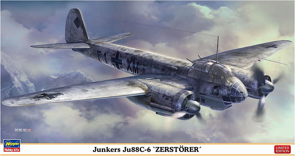 "Hasegawa 02245 Junkers Ju88C-6 ""Zerstorer"" 1/72 scale kit"