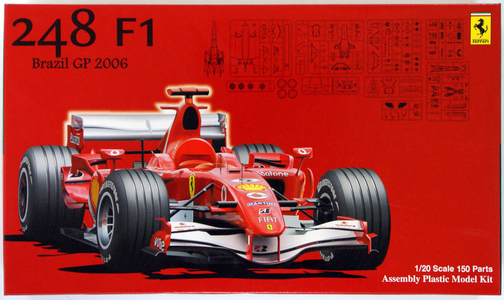 Fujimi GP SP06 090474 F1 Ferrari 248 Brazil GP 2006 1/20 Scale Kit