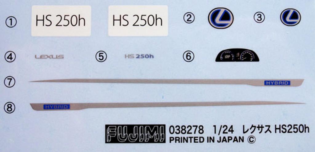 Fujimi ID-152 Lexus HS250h Hybrid 1/24 Scale Kit