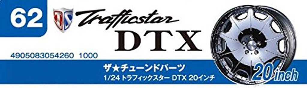 Aoshima 54260 Tuned Parts 62 1/24 Trafficstar DTX 20 inch Tire & Wheel Set