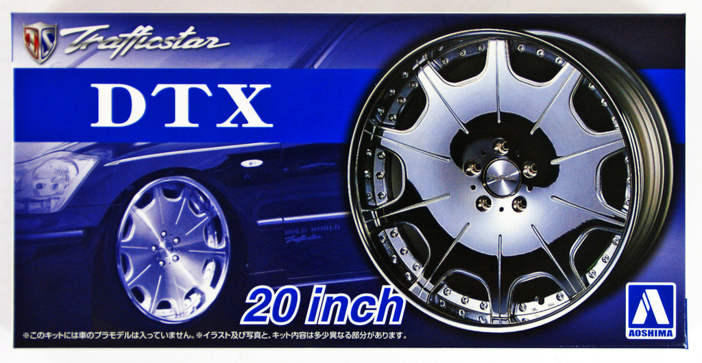 Aoshima 54260 Tuned Parts 62 1/24 Trafficstar DTX 20 inch Tire & Wheel Set