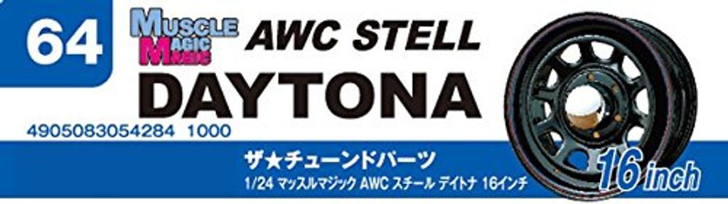 Aoshima 54284 Tuned Parts 64 1/24 MUSCALE MAGIC ATC STEEL DAYTONA 16 inch Tire & Wheel SetAoshima 54284 Tuned Parts 64 1/24 MUSCALE MAGIC ATC STEEL DAYTONA 16 inch Tire & Wheel Set