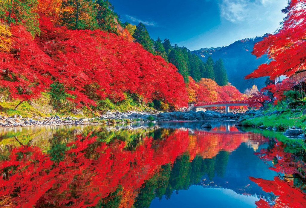 Beverly Jigsaw Puzzle 51-230 Autumn Leaves Korankei Japan (1000 Pieces)