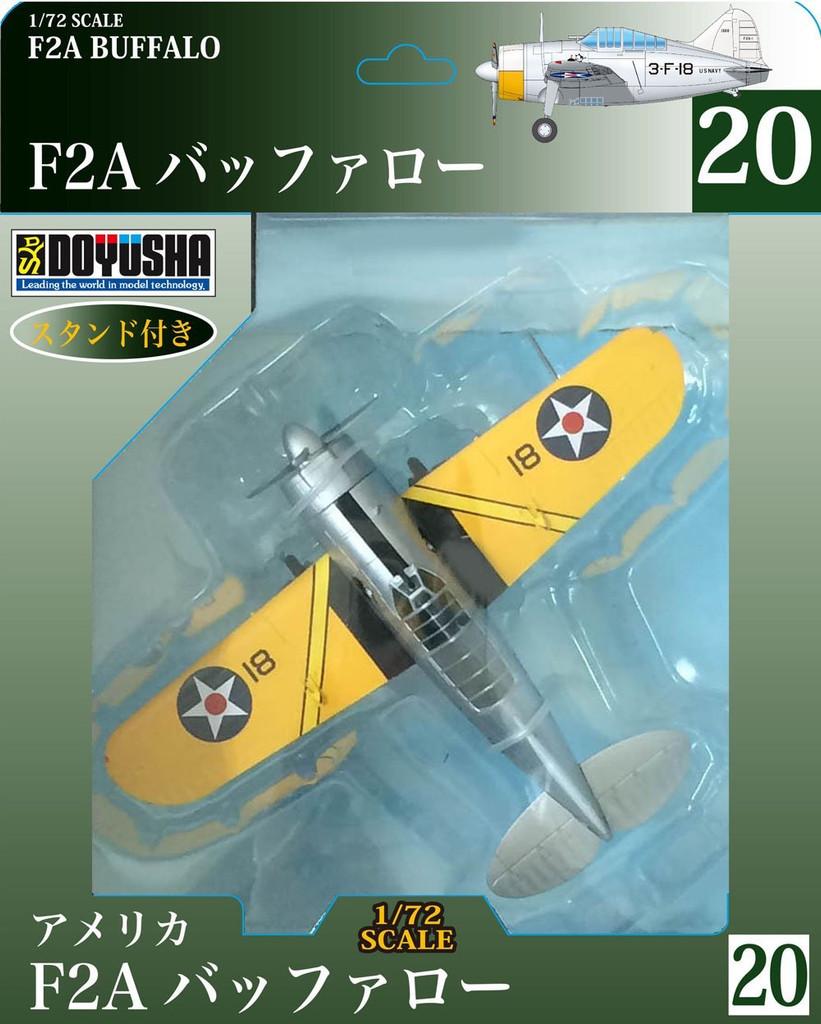 Doyusha 500590 Zero Fighter Type 52 No.20 F2A Buffalo 1/72 Scale Pre-painted Model