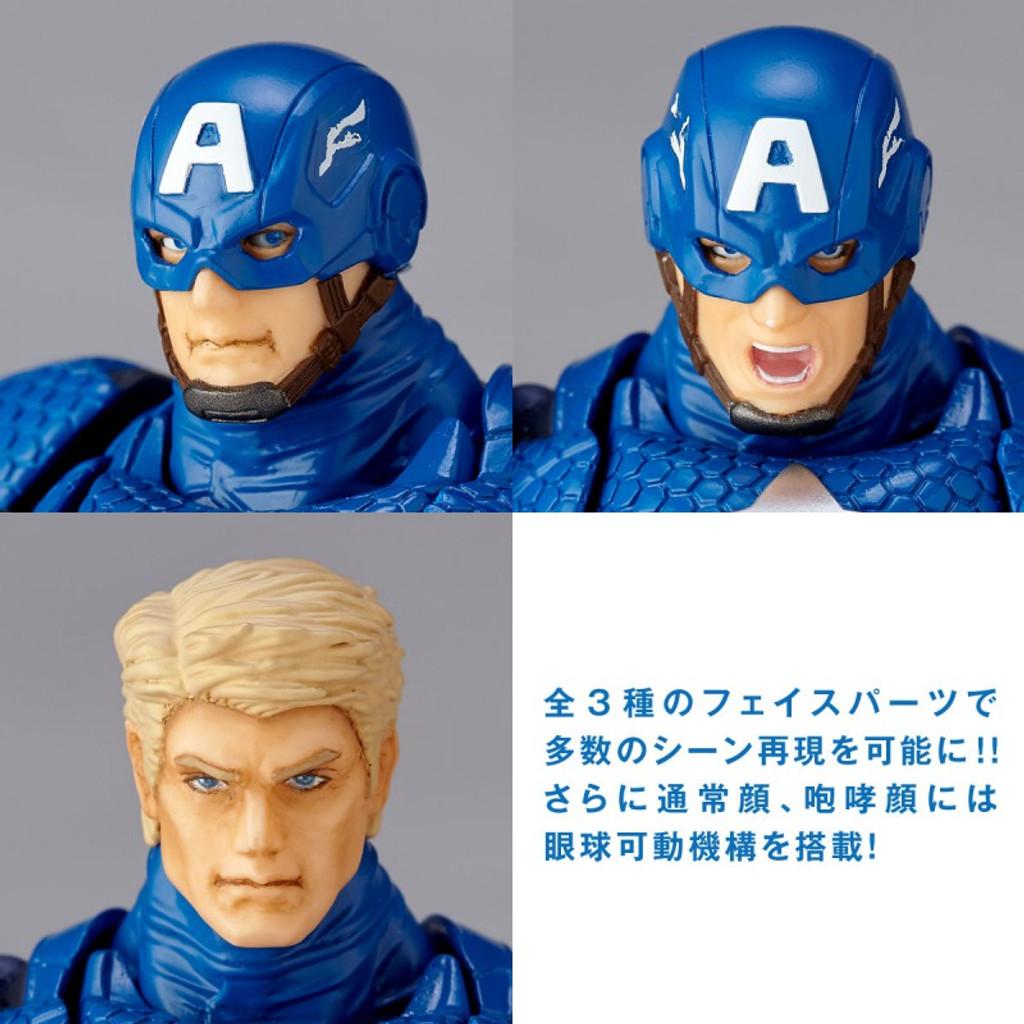 Kaiyodo Figure Complex Amazing Yamaguchi 007 Captain America Action Figure