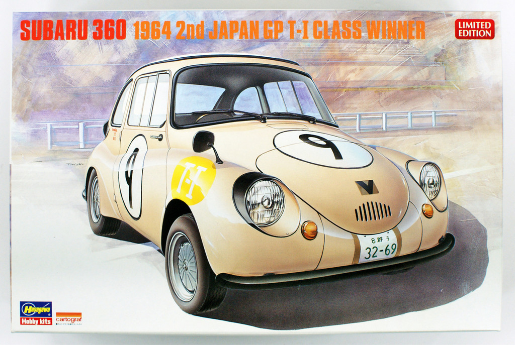 Hasegawa 20322 Subaru 360 1964 2nd Japan GP T-1 Class Winner 1/24 scale kit