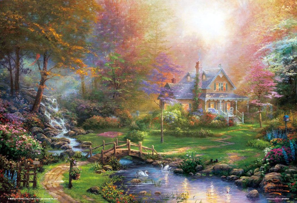 Beverly Jigsaw Puzzle 93-128 Thomas Kincade Mother's Perfect Day (300 Pieces)