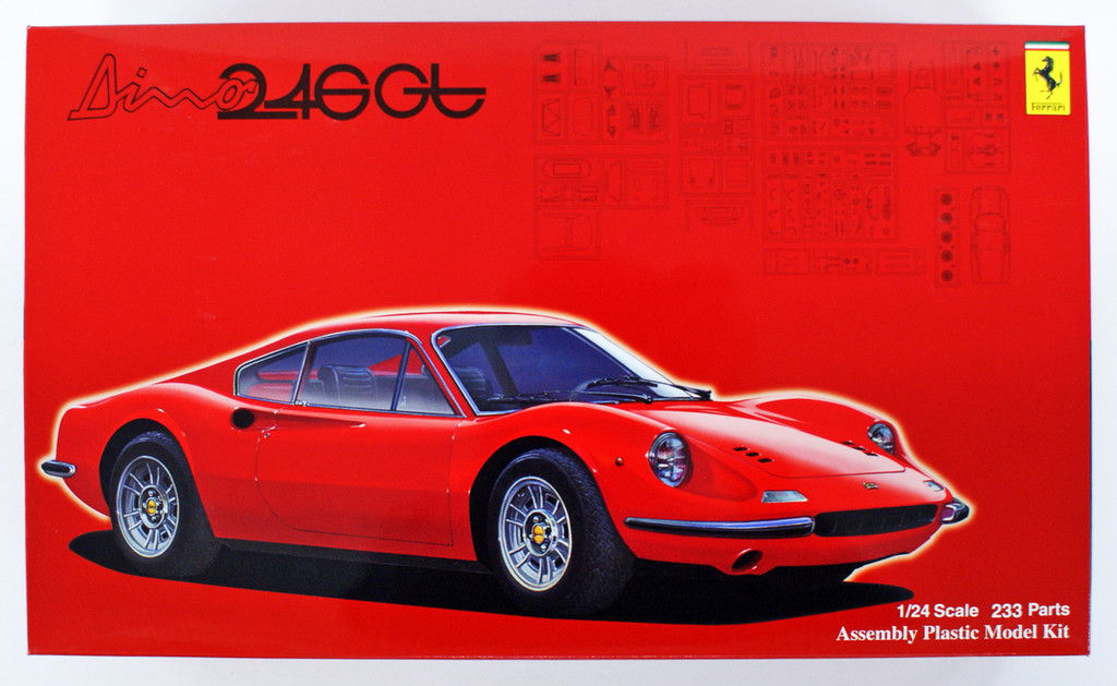Fujimi RS-116 Ferrari Dino 246GT Early Type/ Late Type 1/24 scale kit
