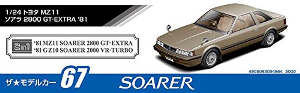 Aoshima 54864 The Model Car 67 Toyota MZ11 Soarer 2800GT-Extra 1981 1/24 scale kit