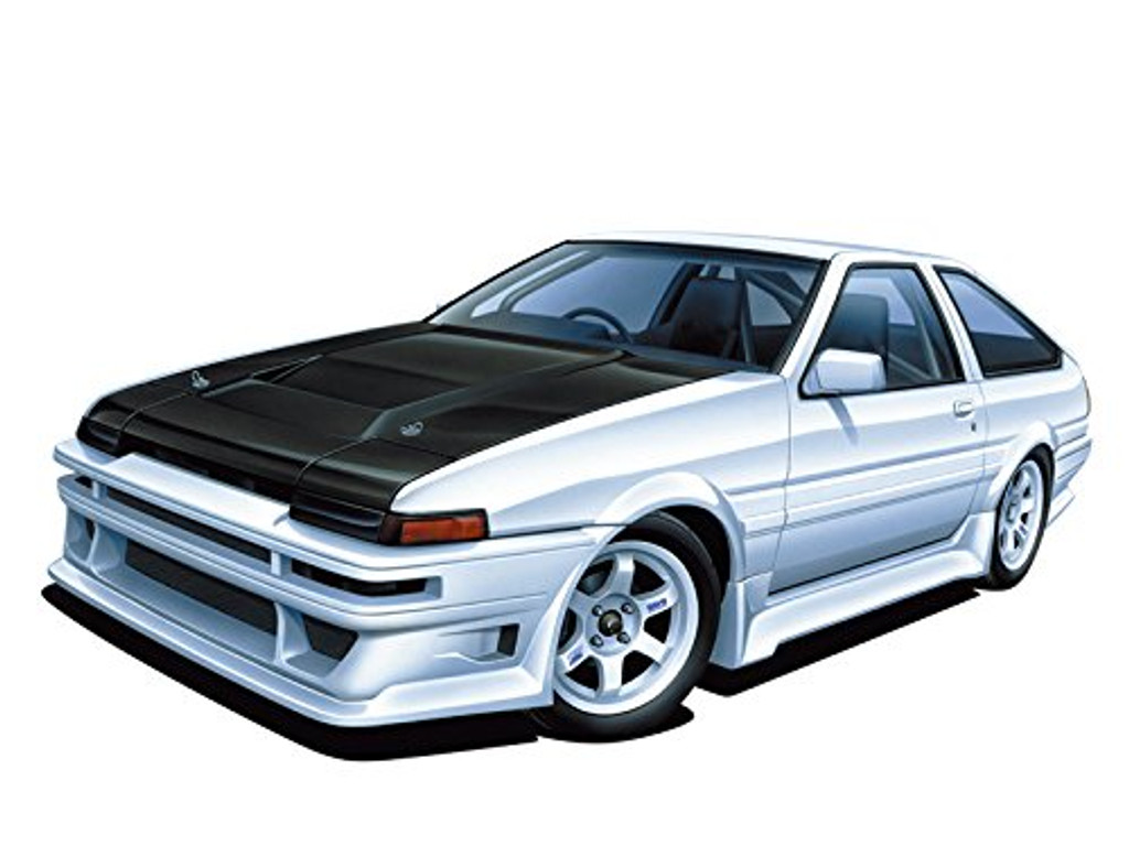 Aoshima 55120 Car Boutique Club Toyota AE86 Trueno 1985 1/24 scale kit