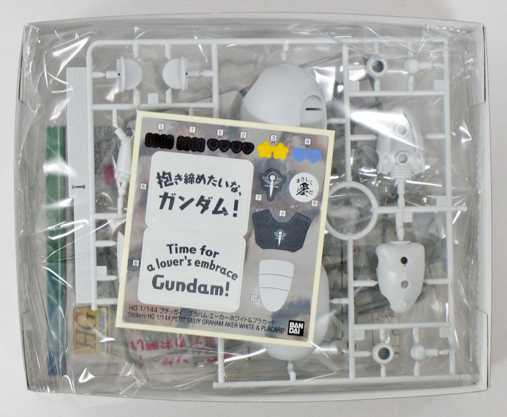 Bandai HG PETIT'GGUY 222583 Graham Aker White & Placard 1/144 Scale Kit