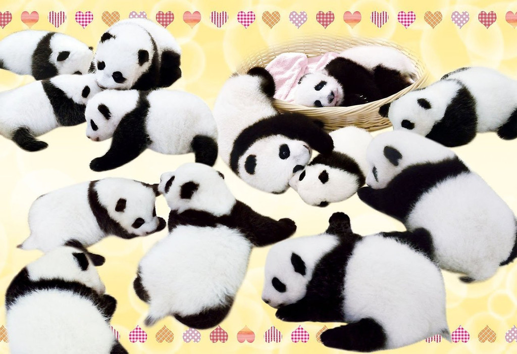 Epoch Jigsaw Puzzle 25-153 We Love Panda (300 Pieces)