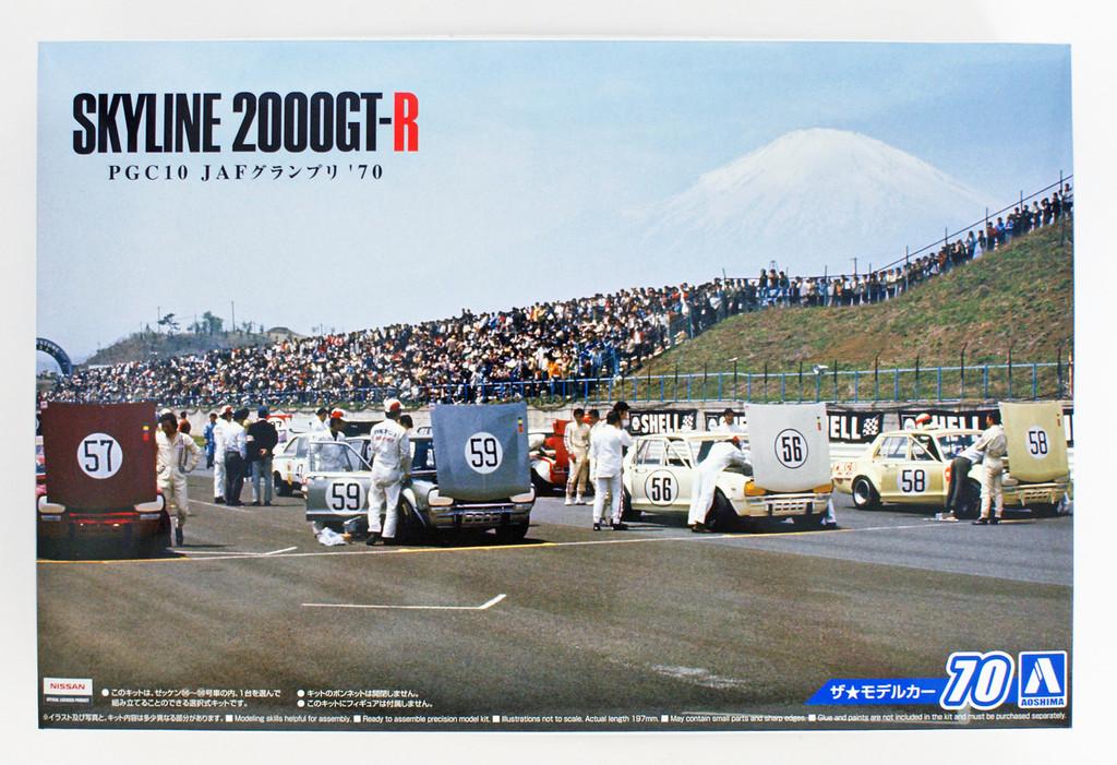 Aoshima 55236 Model Car 70 Nissan PGC Skyline 2000GT-R JAF GP 1970 1/24 scale kit