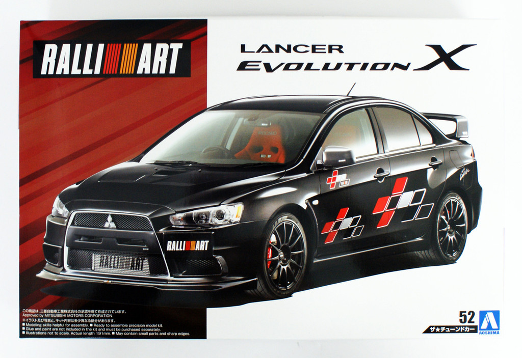 Aoshima 55441 Mitsubishi Ralliart CZ4A Lancer Evolution 10 2007 1/24 scale kit
