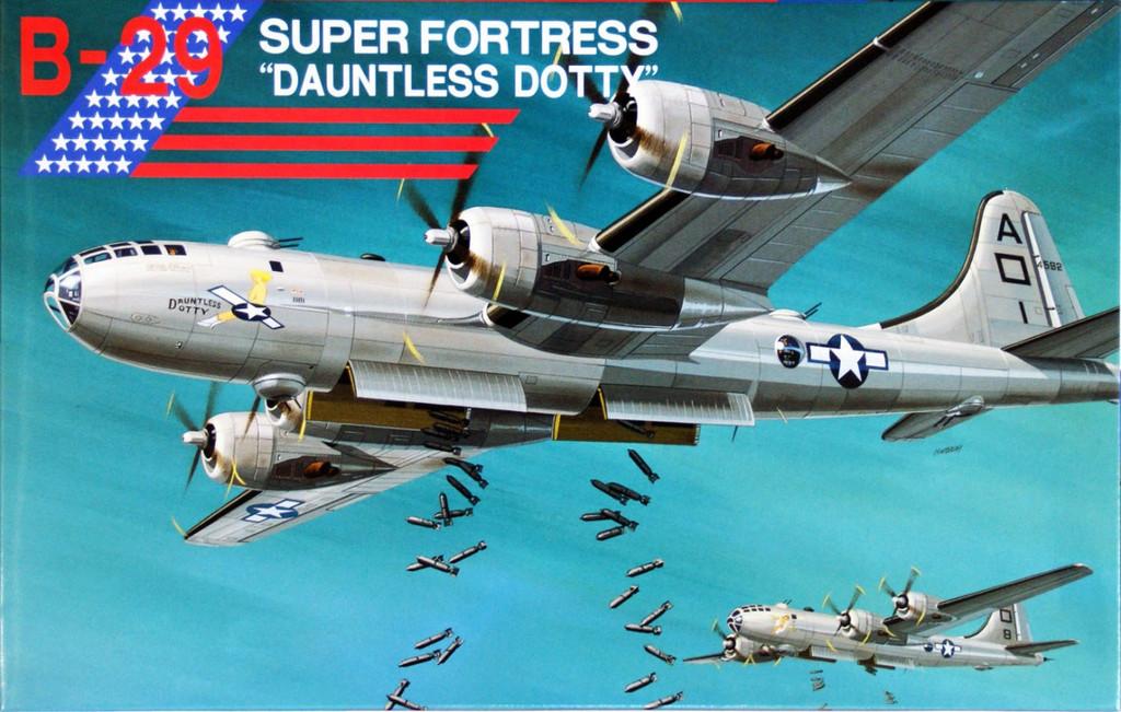 Fujimi No.01 B-29 Super Fortress Dauntless Dotty 1/144 Scale Kit