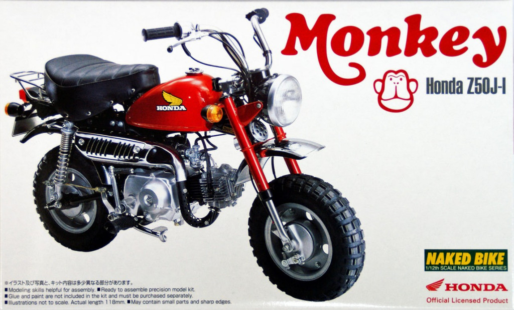 Aoshima Naked Bike 19 48771 Honda Monkey 1978 1/12 Scale Kit