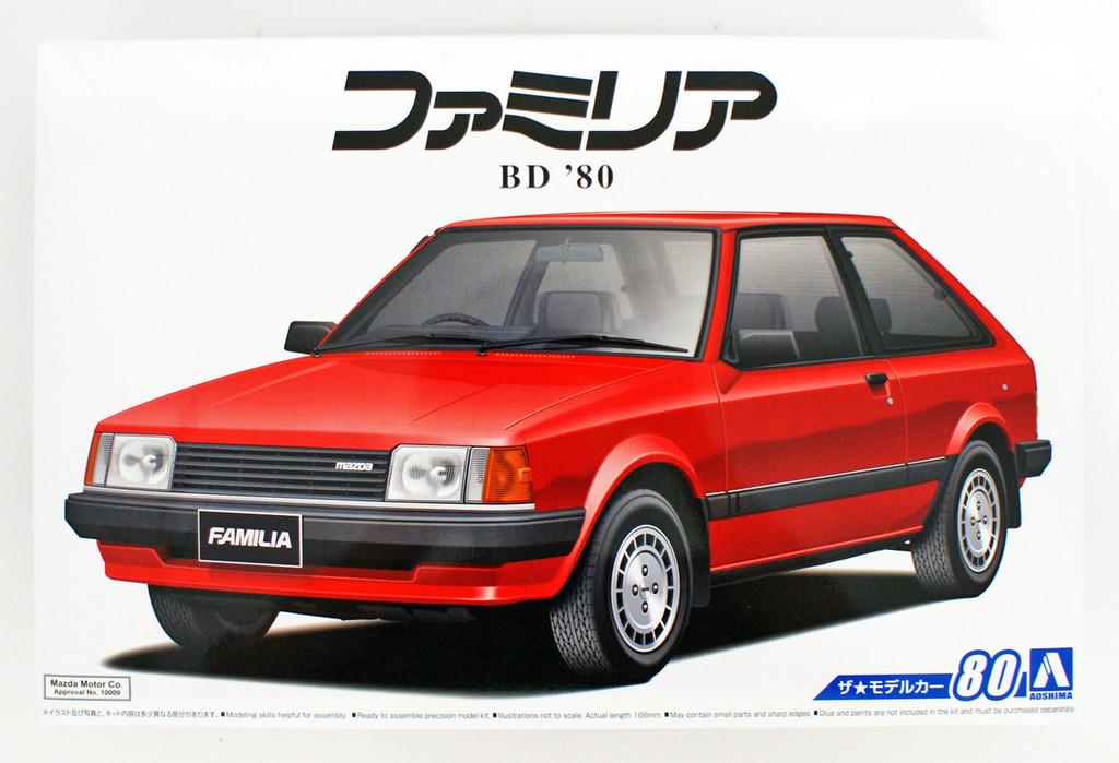 Aoshima 55892 The Model Car 80 Mazda BD Familia XG 1980 1/24 scale kit