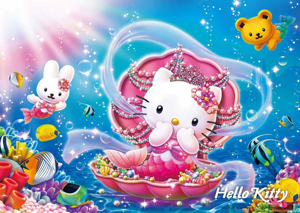 Beverly Jigsaw Puzzle 108-823 Hello Kitty Mermaid Princess (108 Pieces)