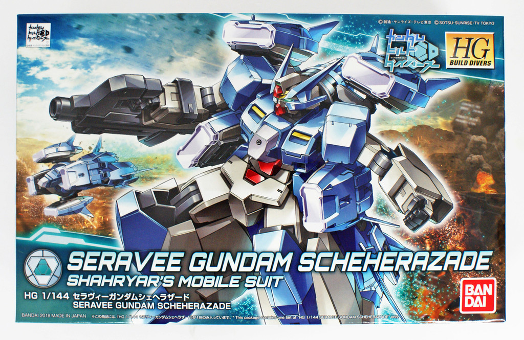 Bandai HG Gundam Build Divers 006 Seravee Gundam Scheherazade 1/144 Scale Kit