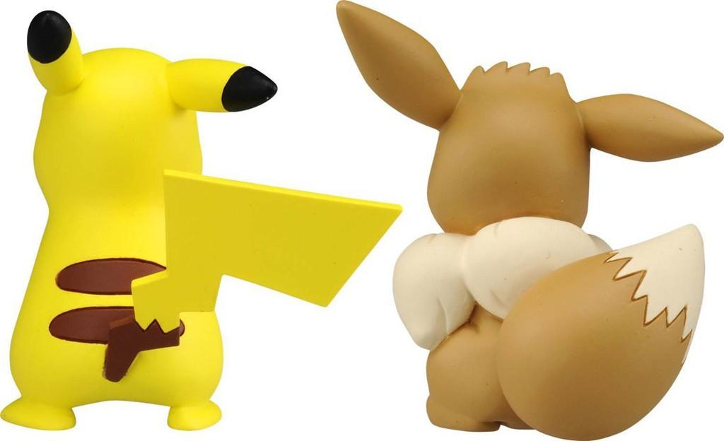 Takara Tomy Pokemon Moncolle EX ESP-10 Pikachu & Eevee (115328)