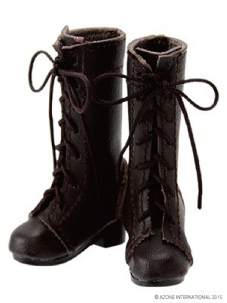 Azone AKT107-BRN PNM 7 Hole Lace Up Boots Brown