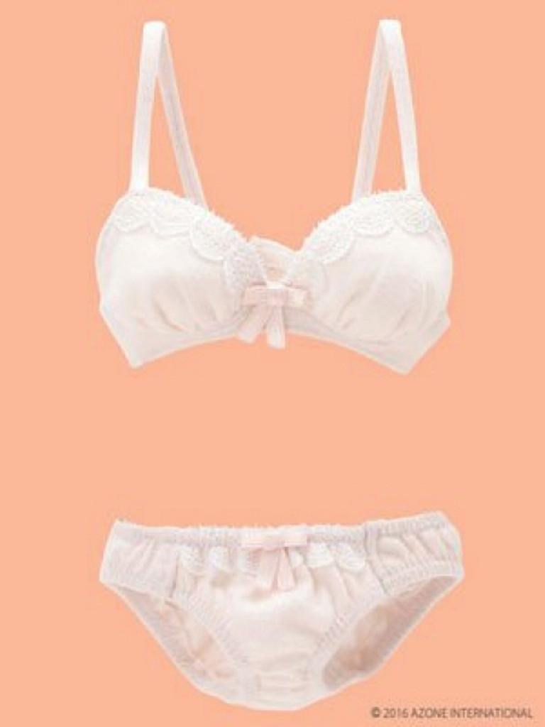 Azone FAO030-PNK AZO2 Milky Cotton Bra & Panties Set Sugar Pink